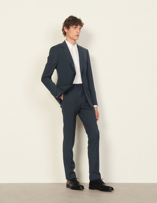 Suit Trousers In Italian Fabric : Pants & Shorts color Bluish Grey
