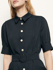 Shirt Dress With Decorative Buttons : Dresses color Navy Blue