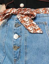 Denim Shorts With Removable Belt : Skirts & Shorts color Blue Jean
