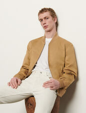 Japanese Cotton Varsity Jacket : Trench coats & Coats color Beige