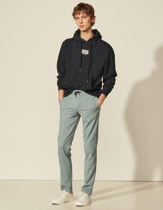 Straight-Cut Trousers : Pants & Shorts color Storm
