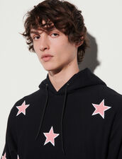 Hoodie With Patch : Sweatshirts color Black