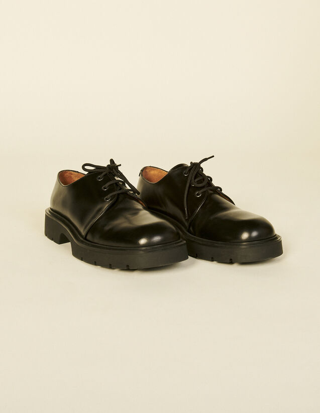 Derby Shoes With Chunky Soles : Shoes color Black
