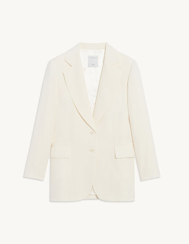 Flowing Tailored Jacket : Blazer & Jacket color Ecru