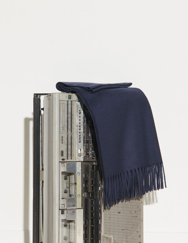 Wool And Cashmere Scarf : Scarf color Dark Navy