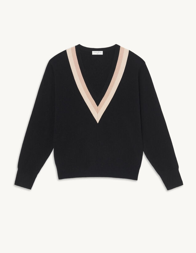 Wool And Cashmere Sweater : Sweaters & Cardigans color Black