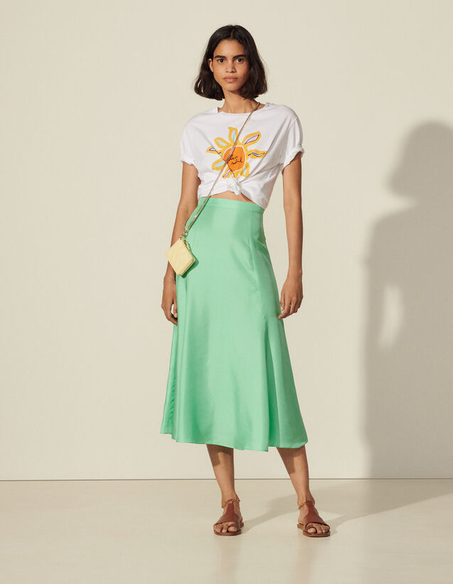 Long Silk Skirt : View All color tmp