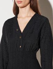 Short Dress With Smocking : Dresses color Black