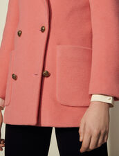 Double-Breasted Pea Coat : Coats color Pink