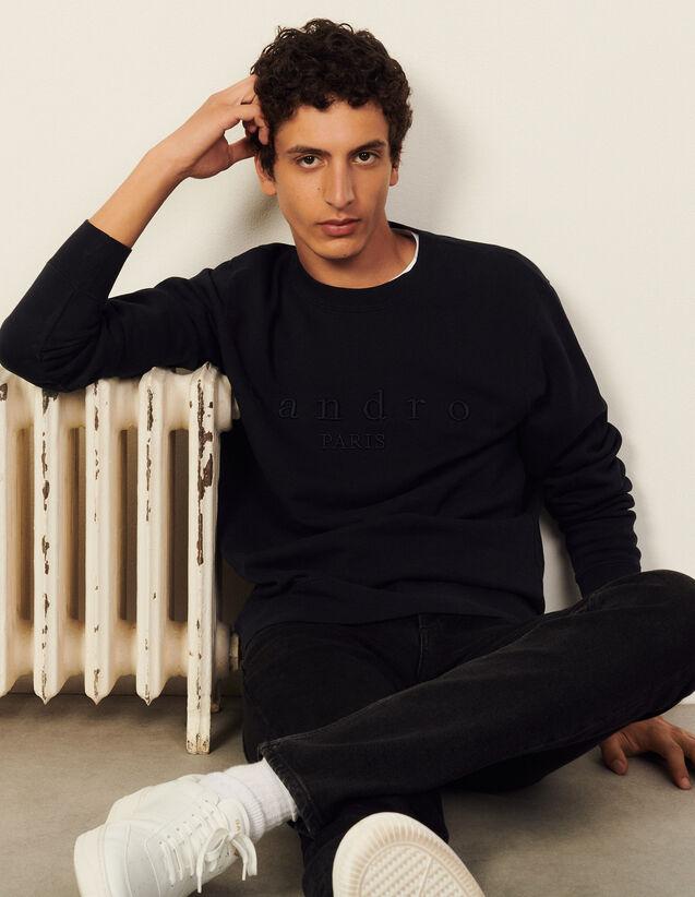 Sweatshirt With Sandro Embroidery : Sweatshirts color Black