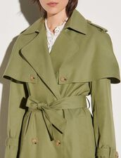 Trench Coat With Removable Yoke : Coats color Light kaki