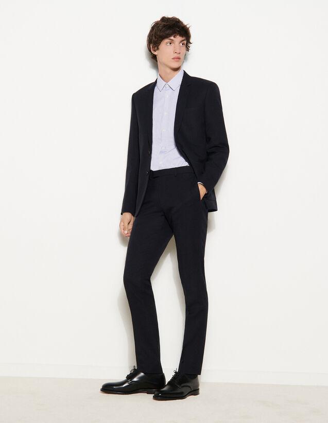 Suit Trousers : Pants & Shorts color Navy Blue