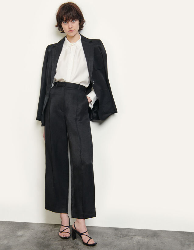Tailored Trousers : Pants color Black