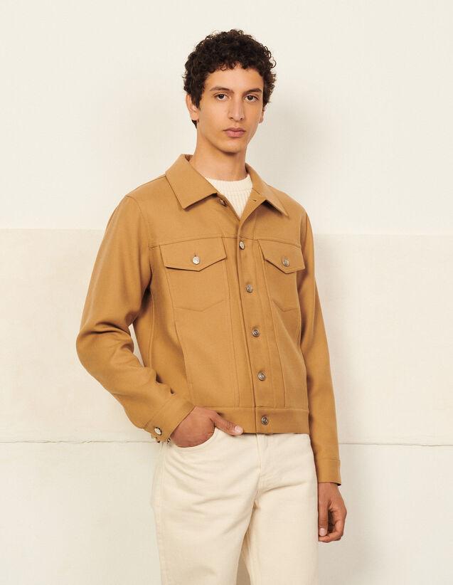 Wool Jacket : Trench coats & Coats color Camel