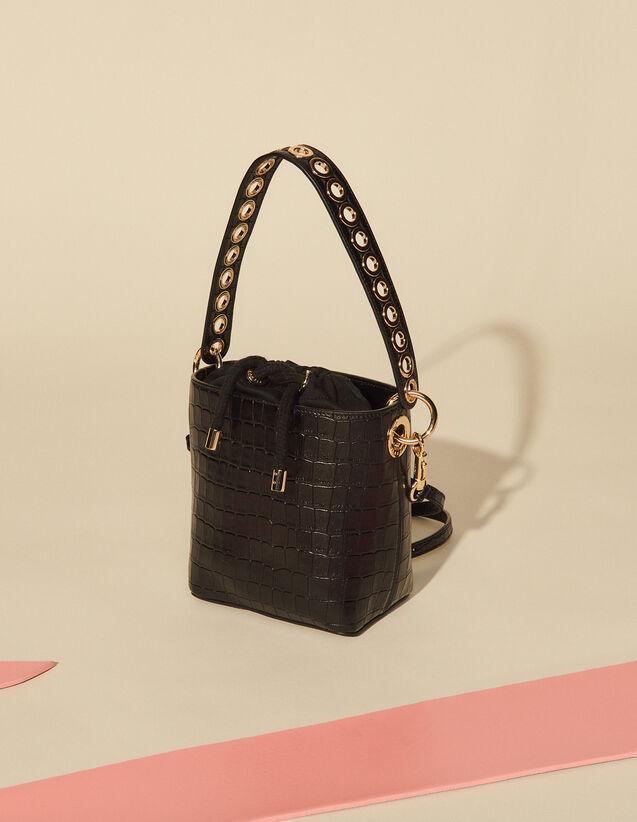 Leather Bucket Bag : My Adely Bag color Black