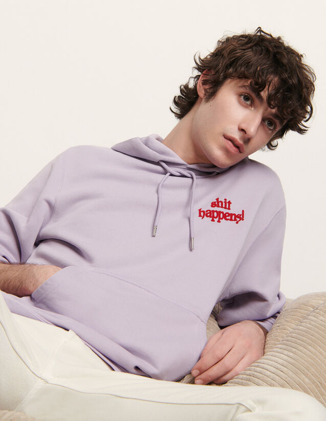 Hoodie With Lettering : Sweatshirts color Yellow