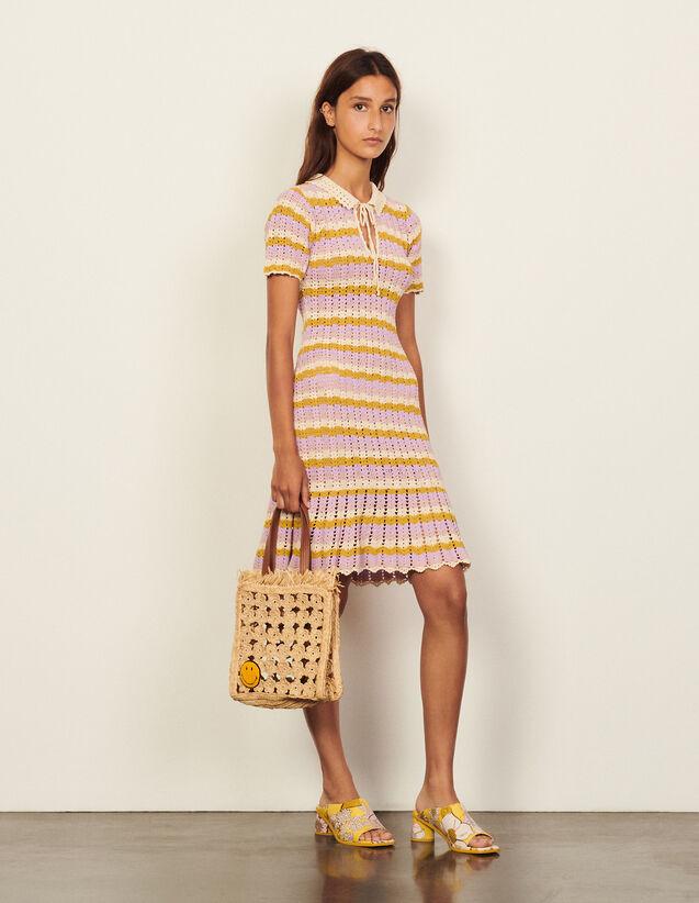 Multicoloured Crochet Polo Dress : Dresses color Multi-Color