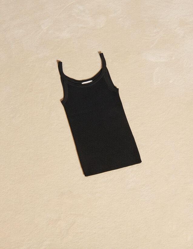 Ribbed Vest Top : Tops color Black