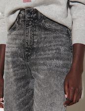 Destroyed Boyfriend Jeans : Jeans color Charcoal Grey