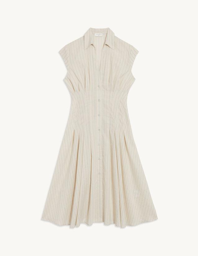 Striped Shirt Dress : Dresses color Ecru