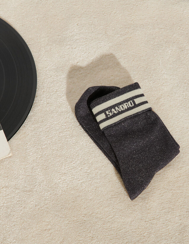 Lurex Socks With Sandro Logo : Other accessories color Dark Grey