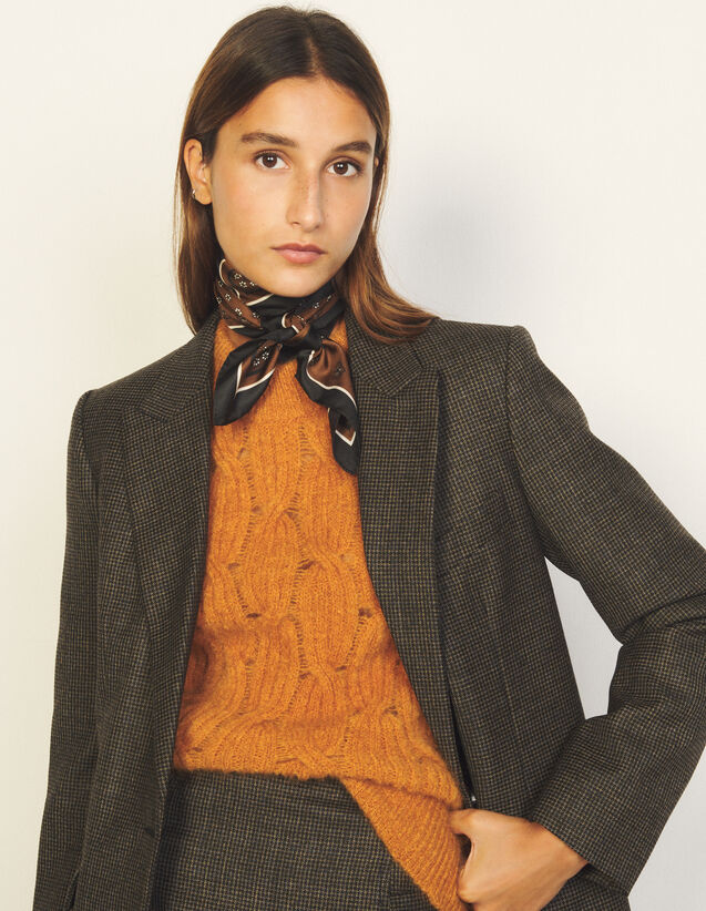 Cable Knit Sweater : Sweaters & Cardigans color Camel