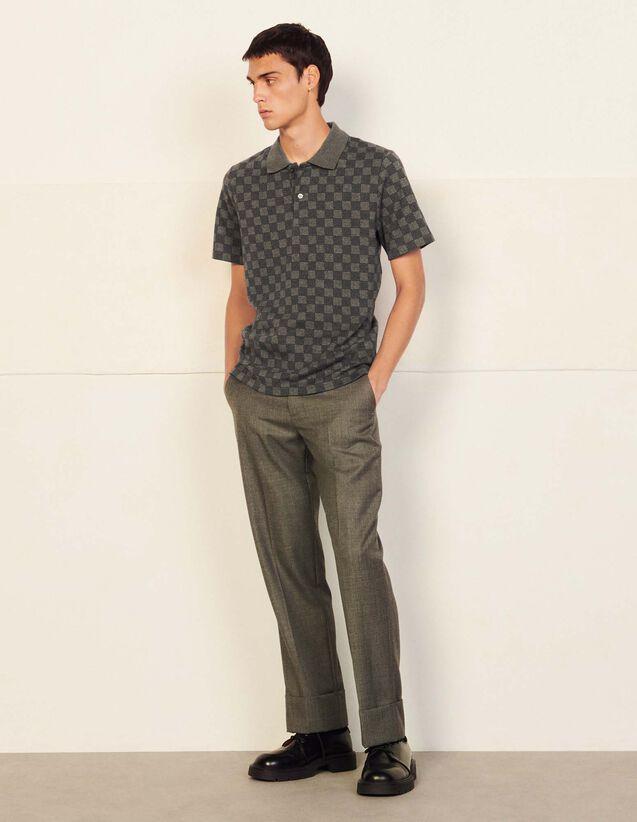 Monogrammed Jacquard Polo Shirt : T-shirts & Polo shirts color Camel