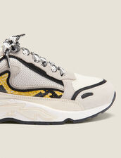 Flame Trainers : Shoes color yellow python