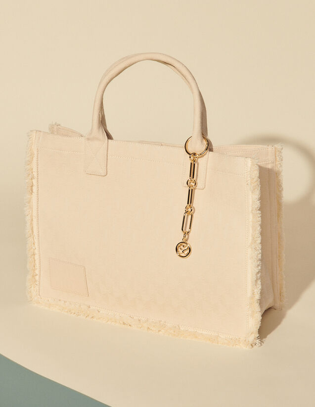 Jacquard Tote Bag : All Bags color Beige
