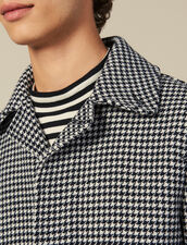 Houndstooth Coat : Trench coats & Coats color Black
