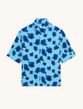 Short-Sleeved Printed Shirt : Shirts color Blue