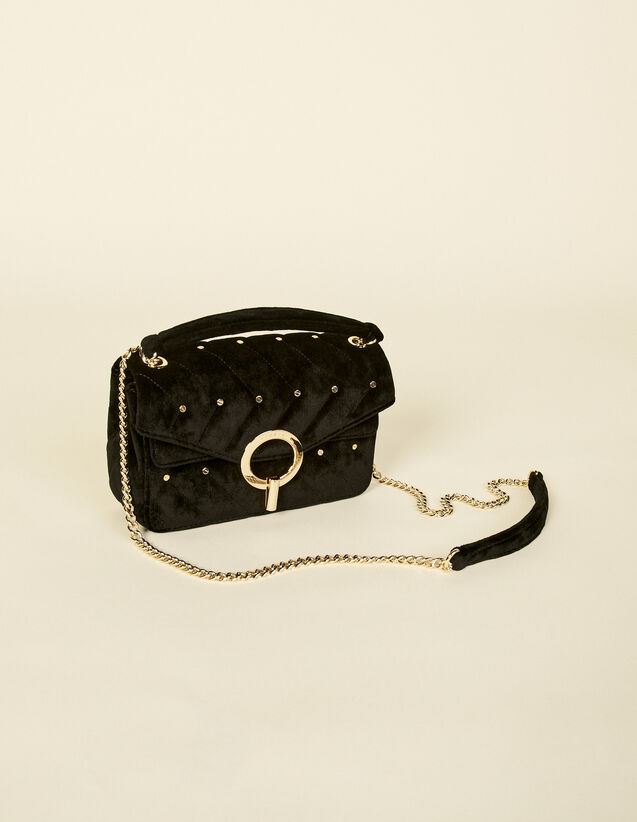 Yza Velvet Bag With Studs : My Yza bag color Black