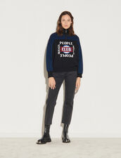 Trucker-Neck Sweater : Sweaters & Cardigans color Black