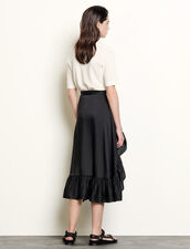 Ruffled Asymmetric Skirt : Skirts & Shorts color Black