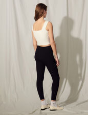 Knit Bra Top With Embroidery : Tops color white