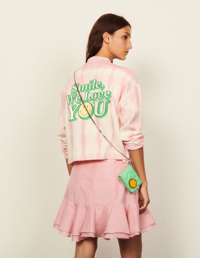 Short Tie-Dye Coatigan : Blazer & Jacket color Pink