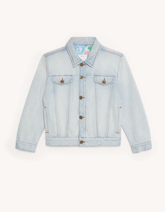 Denim Jacket : Blazer & Jacket color Blue Jean