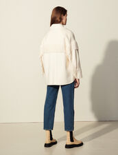 Fringed Jacket In Double Faced Wool : Coats color Ecru