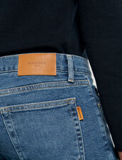 Washed Jeans - Slim Cut : Jeans color Blue Vintage - Denim