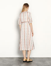 Long Broderie Anglaise Dress : Dresses color Red