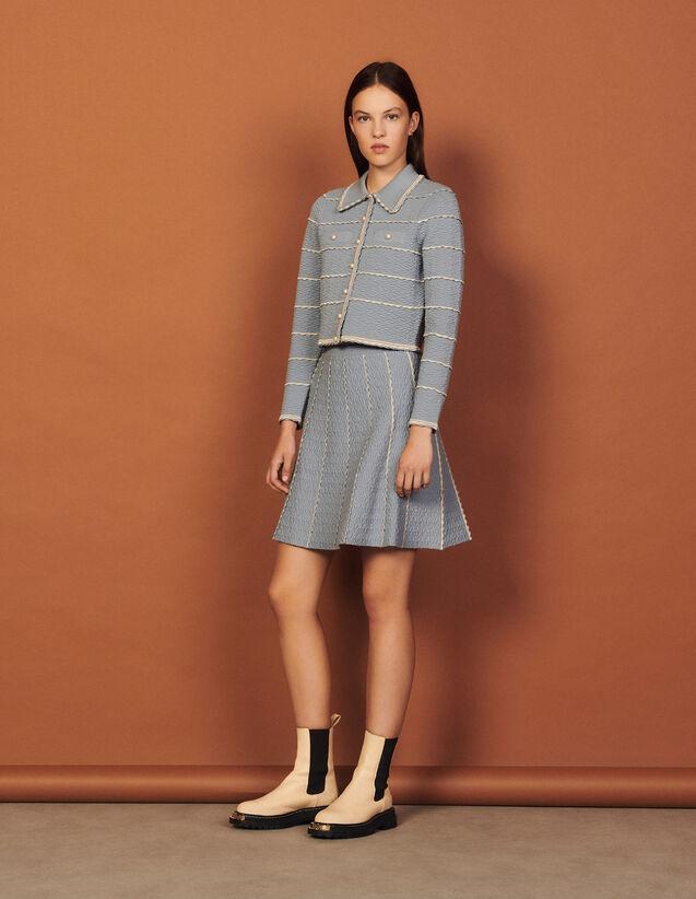 Short A-Line Knit Skirt : Skirts & Shorts color Black