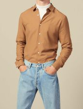 Flannel Shirt : Shirts color Beige