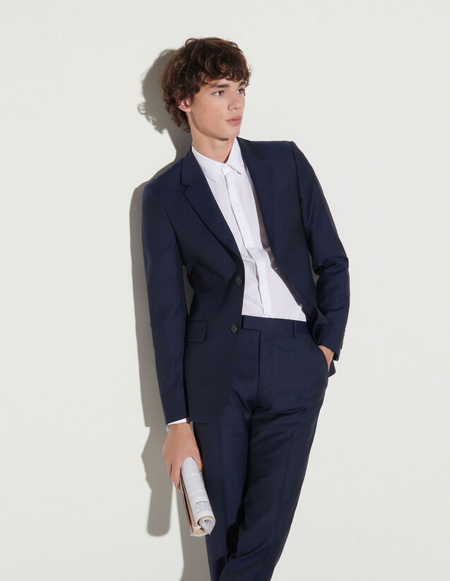 Wool Suit Trousers : Pants & Shorts color Navy Blue