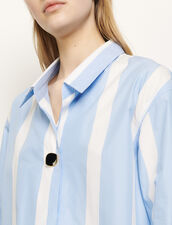 Oversized Striped Shirt : Shirts color Blue Sky
