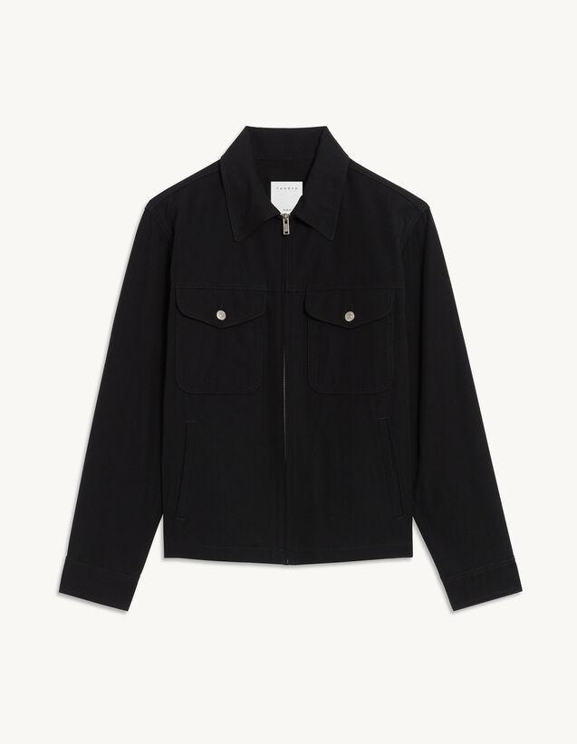 Zip-Up Jacket : Coats & Jackets color Black