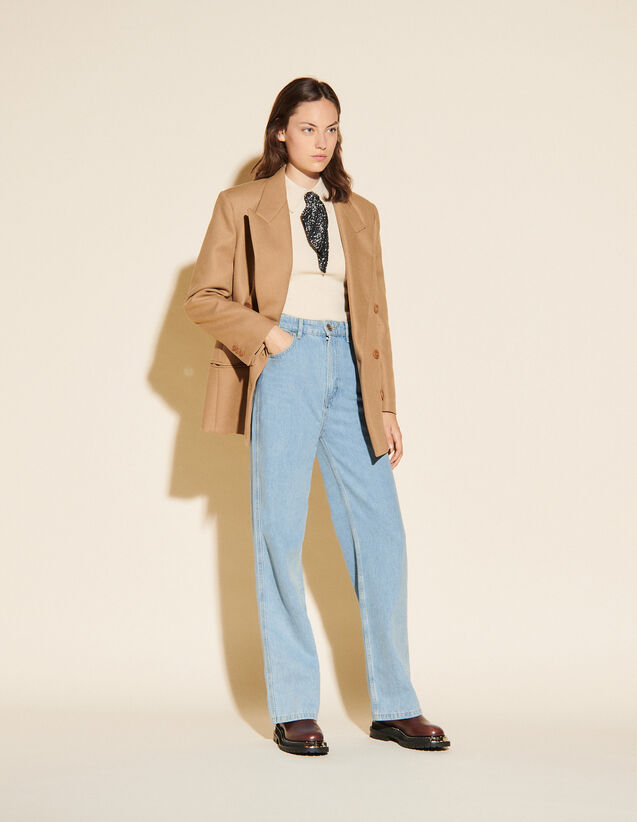 Tailored Jacket With Button Fastening : Blazer & Jacket color Camel