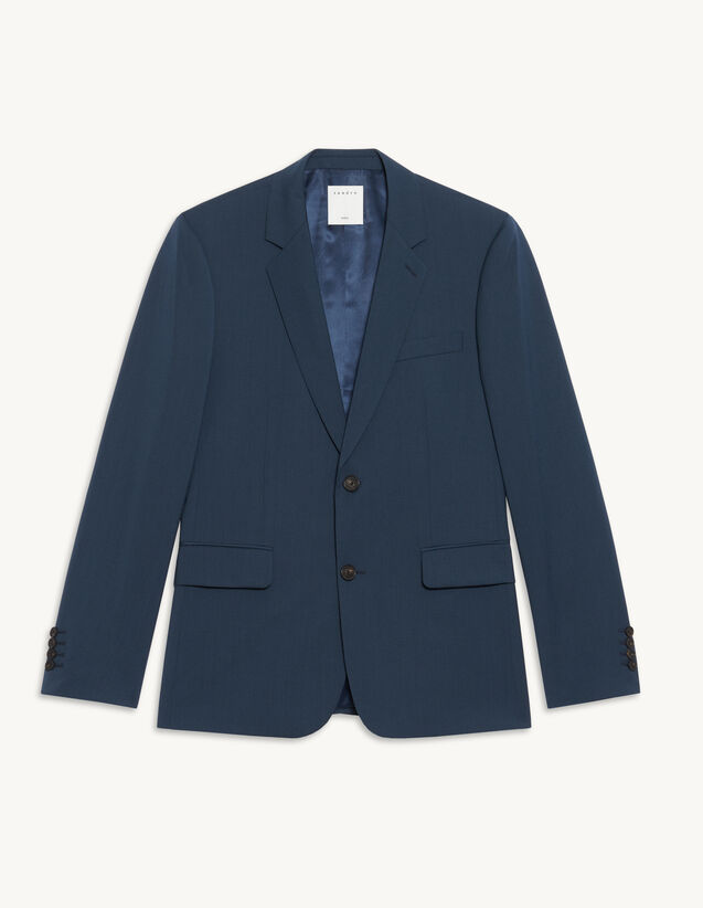 Suit Jacket In Italian Fabric : Suits & Tuxedos color Bluish Grey
