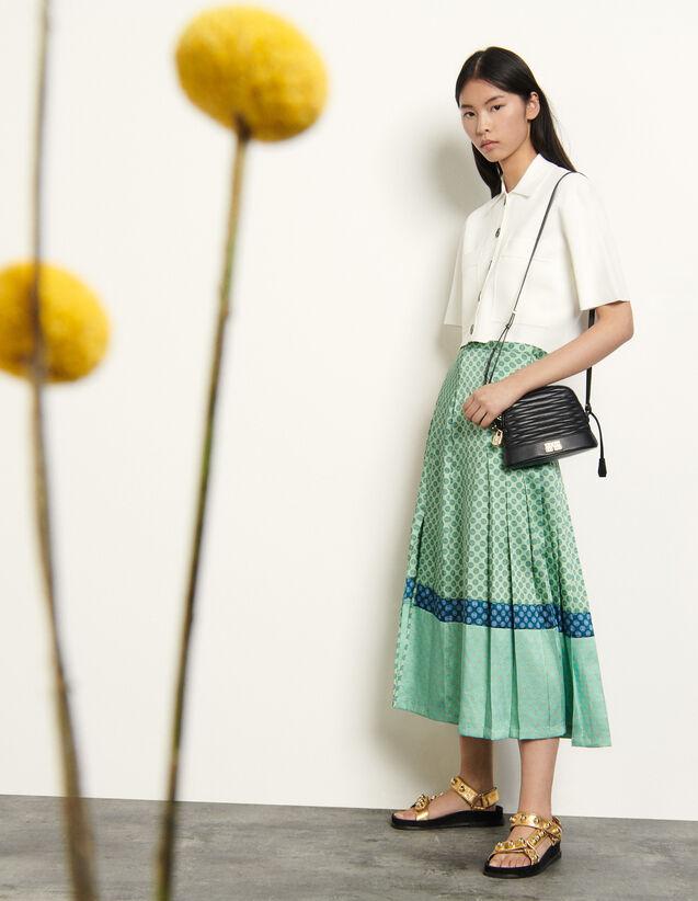 Long Mixed Print Skirt : Skirts & Shorts color Mint