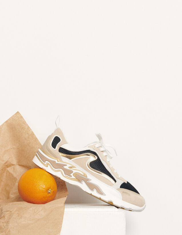 Flame Trainers : Trainers color Gold