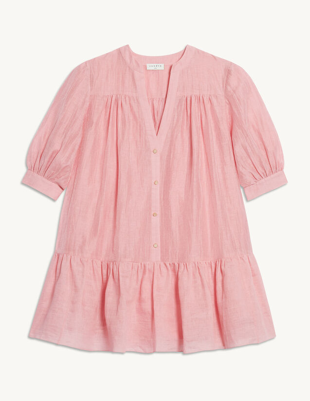 Short Flared Dress : Dresses color Pink